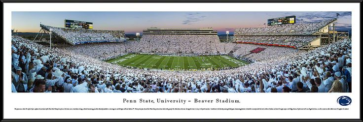 Penn State Nittany Lions Football Panoramic- Sunset