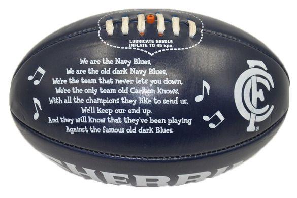 Carlton Team Song Ball. Price $ 19.95