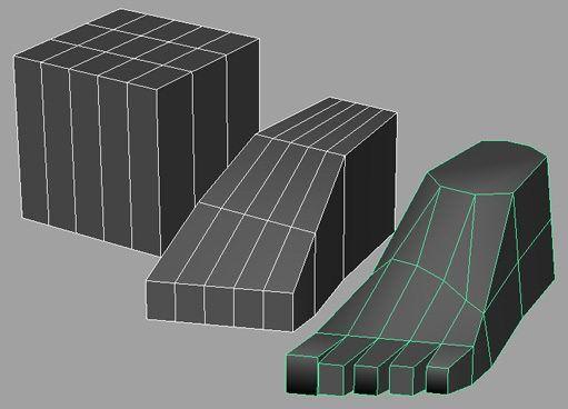 Marche aussi sous Blender  http://www.pinterest.com/dorison/body-topology/  modeling foot in maya | free3DTutorials.com