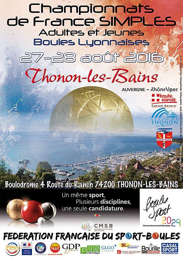 Pétanque : Web TV : France Simple sous le soleil de Thonon - Sport-Boules…