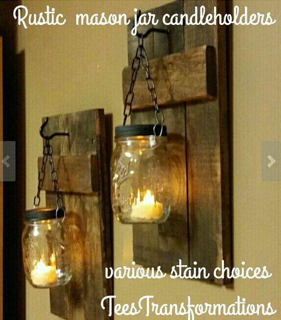 Diese Holz Wandleuchte Kerzenhalter sind aus Altho…