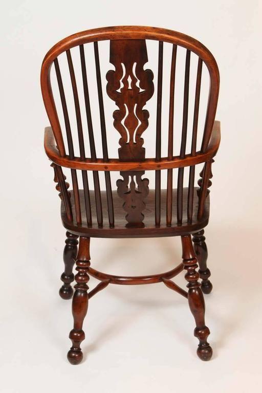An English Windsor Armchair with Crinoline Stretcher, circa 1825 7