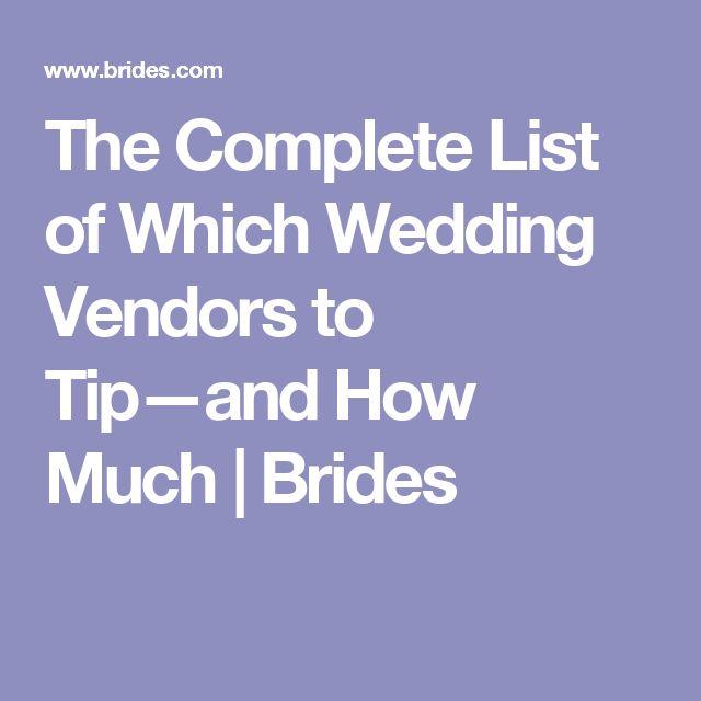 Tipping Wedding Vendors: 25+ Best Ideas About Wedding Vendors On Pinterest