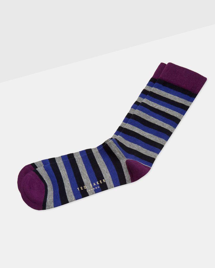 Striped socks - Navy | Socks | Ted Baker