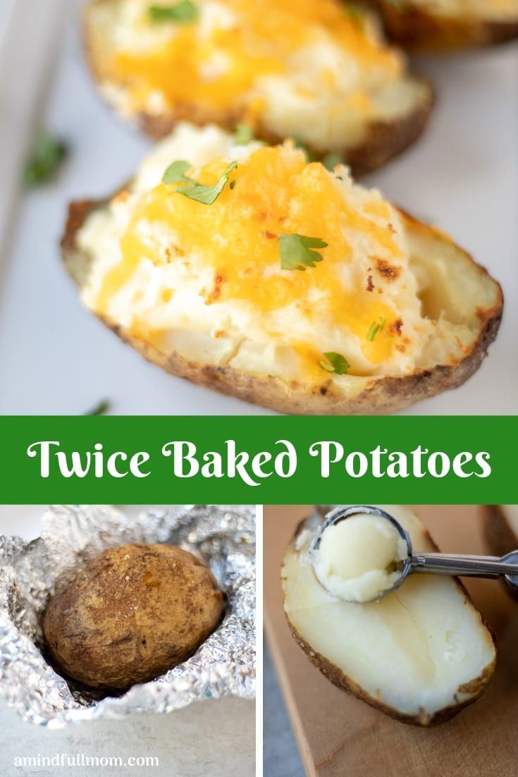Easy Twice Baked Potatoes Are Cheesy Creamy And A Make A Perfect Side Dish To Any Main Co Baked Potato Recipes Twice Baked Potatoes Easy Twice Baked Potatoes