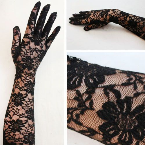 Sexy Women's Lace Floral Gloves Elbow Wedding Lady Costume Opera Party Prom Usa