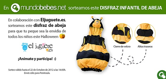 Llévate un disfraz infantil de abeja :) ¡Tienes hasta el 22 de octubre a las 14h para participar!