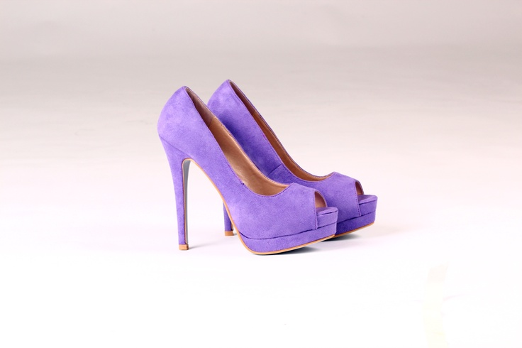 PORTIA Peep Toe Heels Deep Lilac