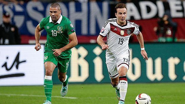 La selección de Alemania espera atar mañana su pase a la Eurocopa de Francia 2016 cuando se mida en Dublín a Irlanda, este jueves desde la 1:45 p.m. por la fecha 9 de las Eliminatorias. Octubre 07, 2015.