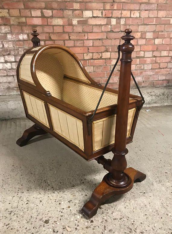 a7e79ded7e70 Beautiful Original 19th Century Victorian Walnut Rocking Baby ...