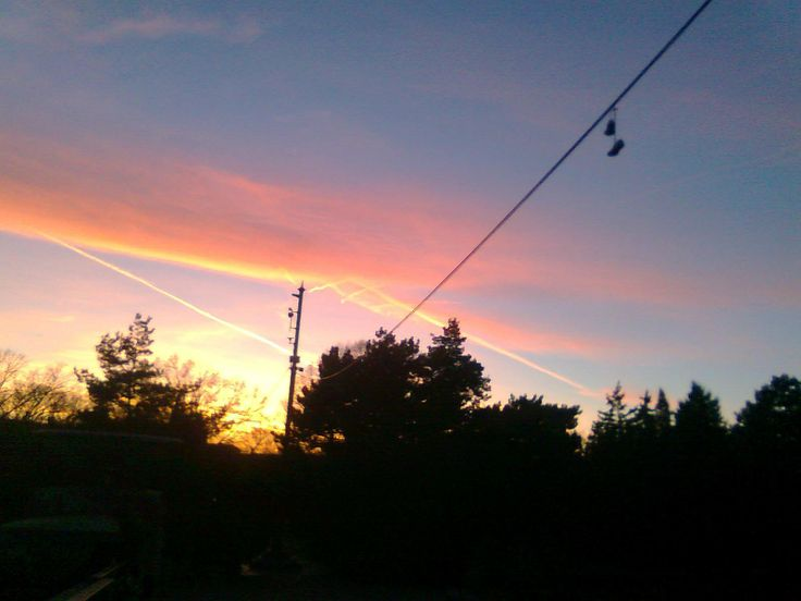 Converse at sunset