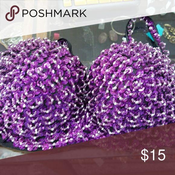 Bling bra Purple bling Tops