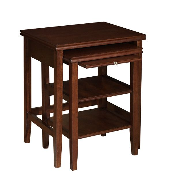 Three Space Saving Cherry Wood Tables Save Space As The Tuck Underneath  Each Allowing Allowing You To Enhance Your Decor And Organize Any Room In  Your Home