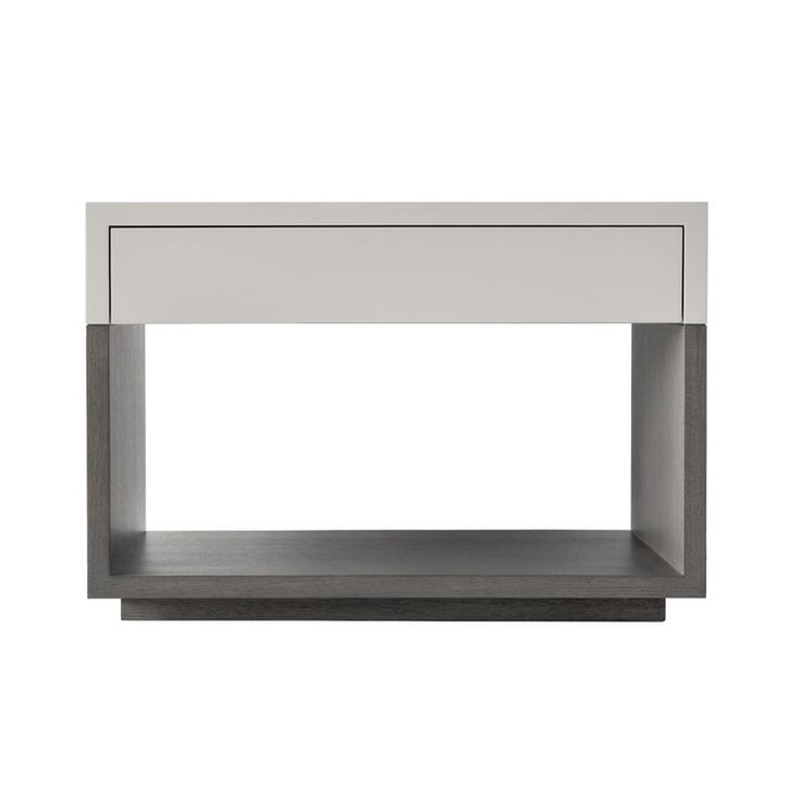 Cole Bedside Table Contemporary, MidCentury Modern, Lacquer, Leather, Wood, Bedroom by Hao Wai Ltd