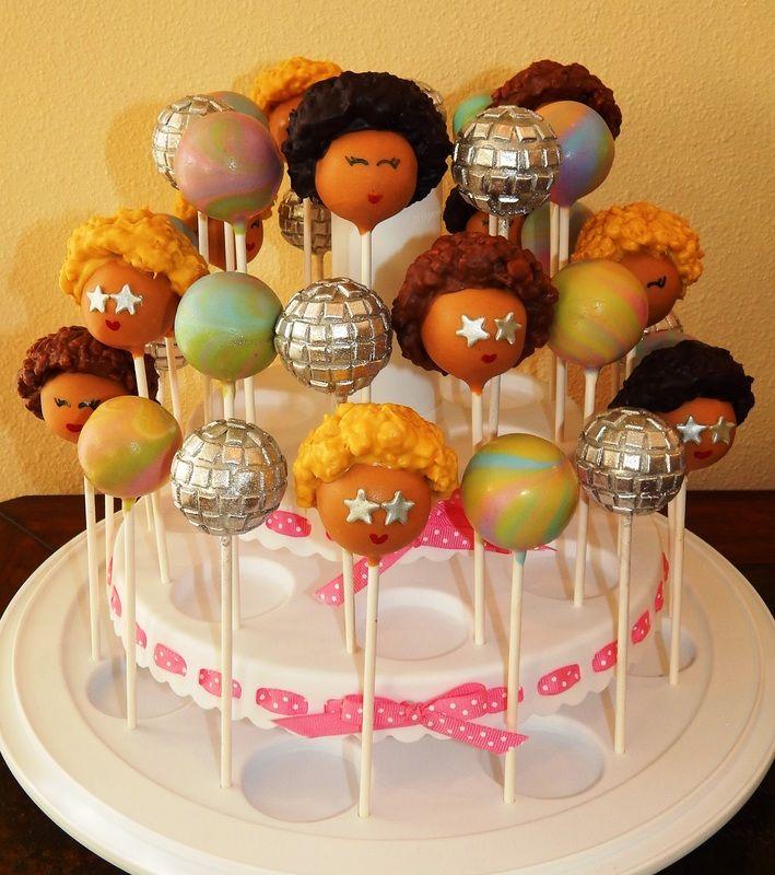 70s Disco Party Cake Pops