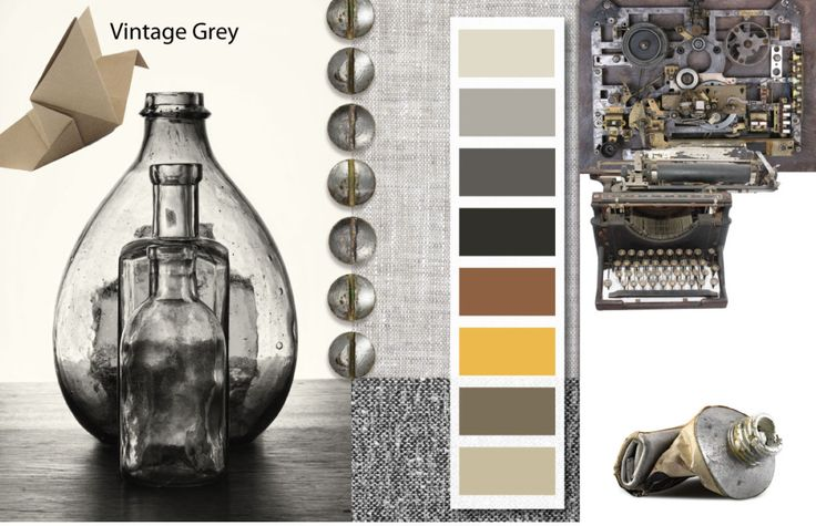 Pinterest Home Decor 2014: Vintage Grey Mood Board, Clothing And Home Decor Color