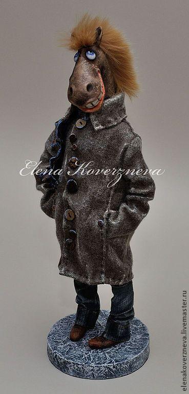 Купить Конь в пальто - рыжий, конь, год лошади, Новый Год, Праздник, коллекционная кукла