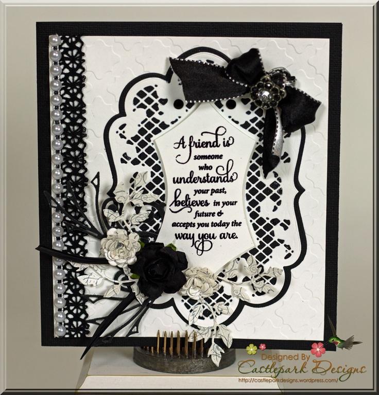 Black and White Friendship Card   Castlepark Designs