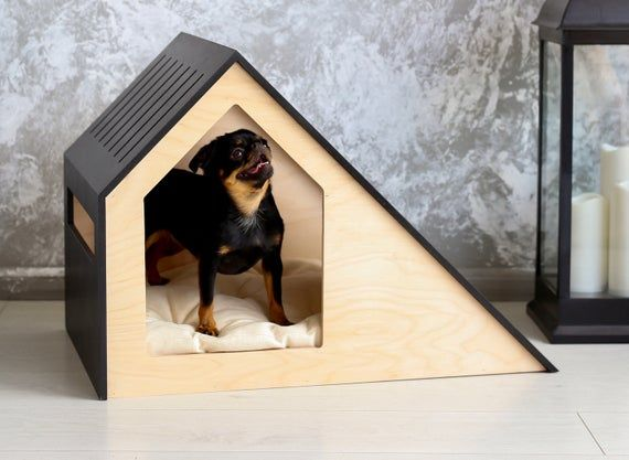 Mid Century Modern Diy Dog House Build Modern Dog Houses Dog