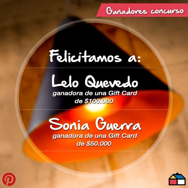 ¡Atención, tenemos a las ganadoras de nuestro concurso Se iluminó la casa!  Felicitamos a @Letizia Lorenzetti Quevedo y a @Sonia S Guerra :)