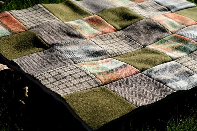 Patchwork picknick blanket - this is awesome!