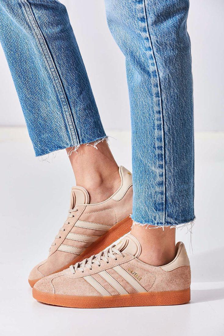 Beige Sneaker Trend: Adidas Originals Suede Gum-Sole Gazelle Sneaker $85
