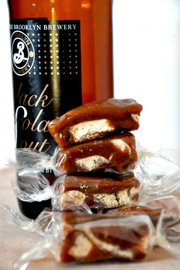 ... Box of Gourmet Chocolate Stout Beer Pretzel Caramel Candies- Per