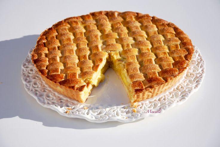La via delle spezie: Intrecci di frolla.... crostata con crema al limone e mele