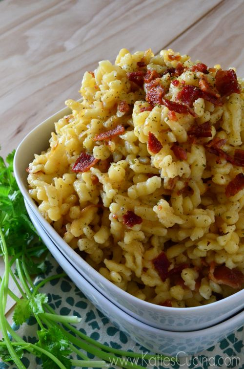 Celebrating Oktoberfest? Or just hosting a German themed meal? try my easy recipe for Caramelized Onion Bacon Spaetzle!