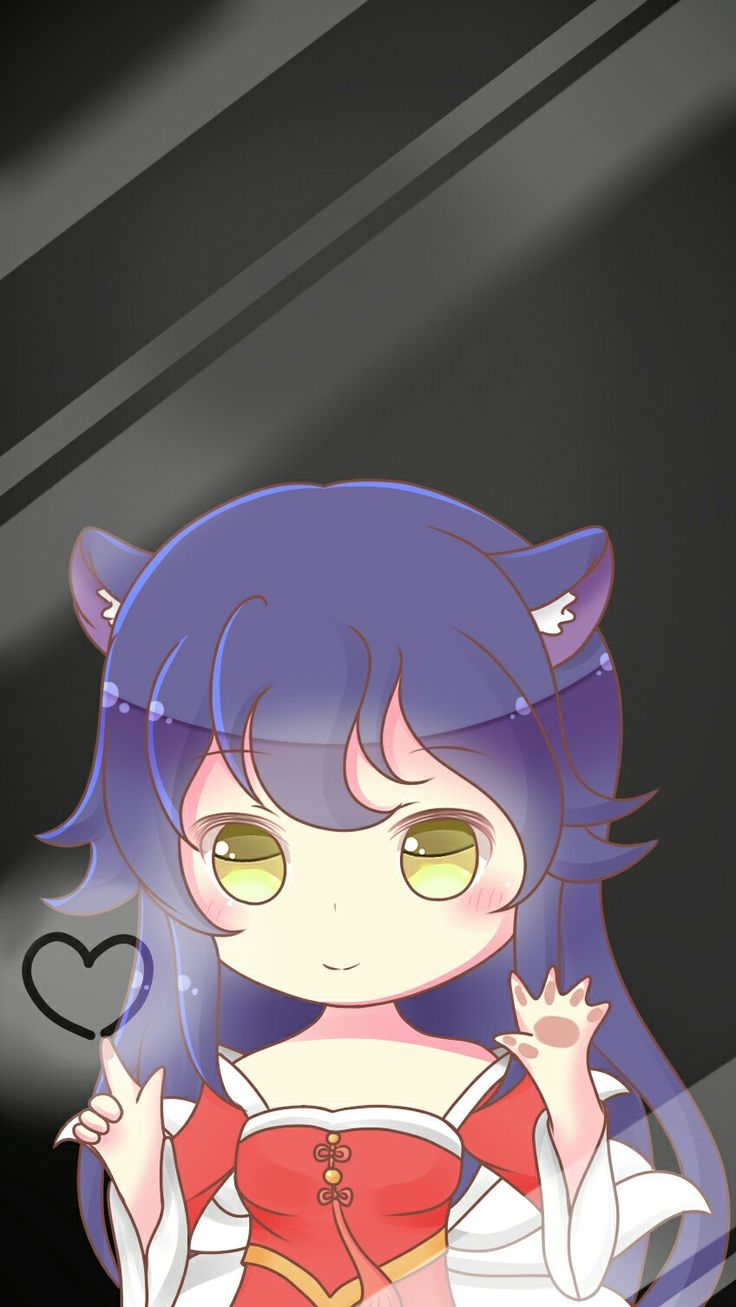 Anime Cat Girl Behind Fence