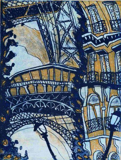 Escape to Paris with Bernard Ollis 'Rue de l'Universite View' Size: 24 x 32cm Etching At Muk Muk Fine Art