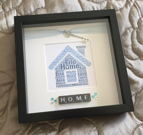 New Home Gift Personalised Scrabble Wall Art Word Art Box Etsy New Home Gifts Box Frames Home Gifts