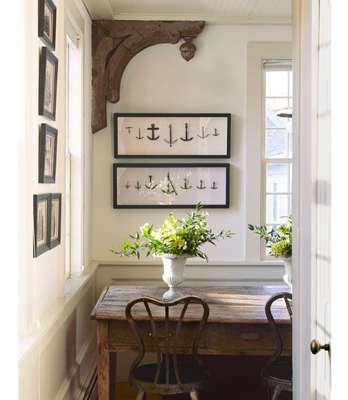 How to Decorate with Art—gorgeous antique corbel❣ Good Housekeeping