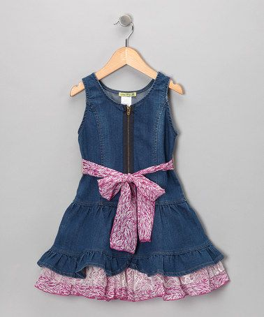 Take a look at this Denim Pink Panther Dress - Toddler & Girls by Little Mass on #zulily today!