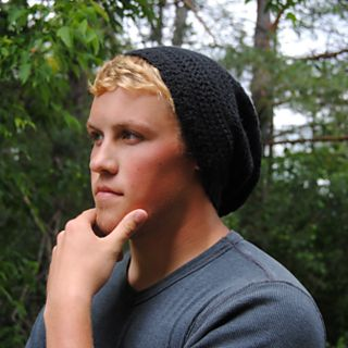 500f0fc5b7435 Basic Men s Slouch Hat pattern by Meg Goebel