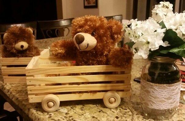 Teddy bear centerpieces