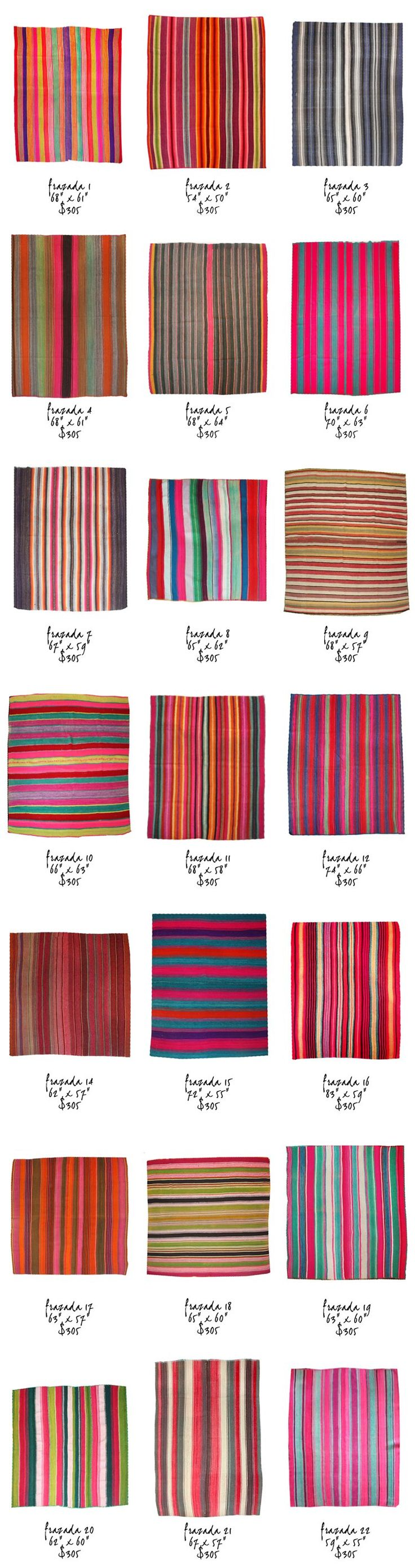 Frazada blankets from Bolivia - just in at   http://www.lavivahome.com