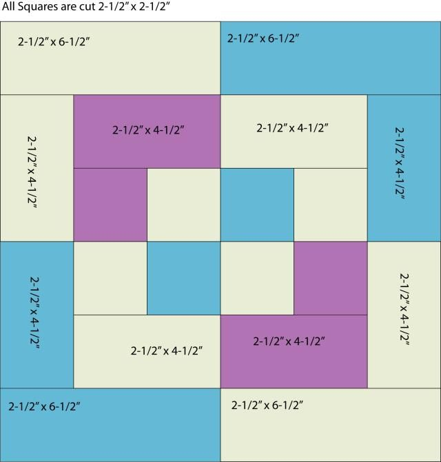 Use Color and Contrast to Sew a Unique (And Easy) Bento Box Quilt: Patch Sizes to Sew Bento Block One Piece at a Time
