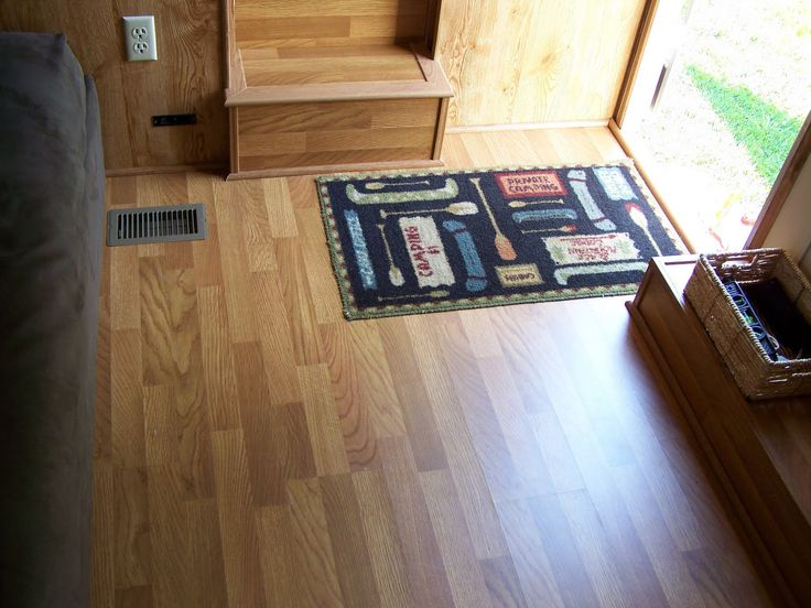 camper remodel - laminate flooring for fifth wheel travel trailer