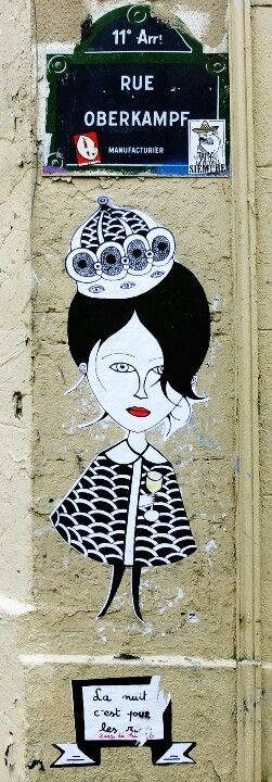 Paris 11 - rue Oberkampf - street art - Fred le Chevalier