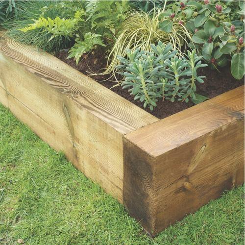 Best Garden Sleeper Ideas Images On Pinterest Raised Gardens - Raised garden border ideas