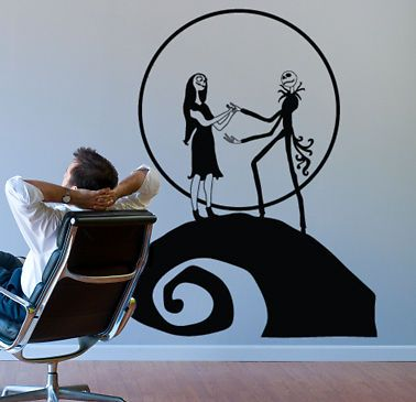 NIGHTMARE BEFORE CHRISTMAS JACK SALLY WALL DECOR DECAL Gallery
