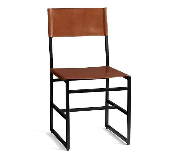 Cool Hardy Leather Dining Chair Bronze Saddle Tan Leather Caraccident5 Cool Chair Designs And Ideas Caraccident5Info