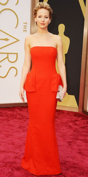 Looks we #levolove // Oscars 2014 Red Carpet Arrivals - Jennifer Lawrence from #InStyle