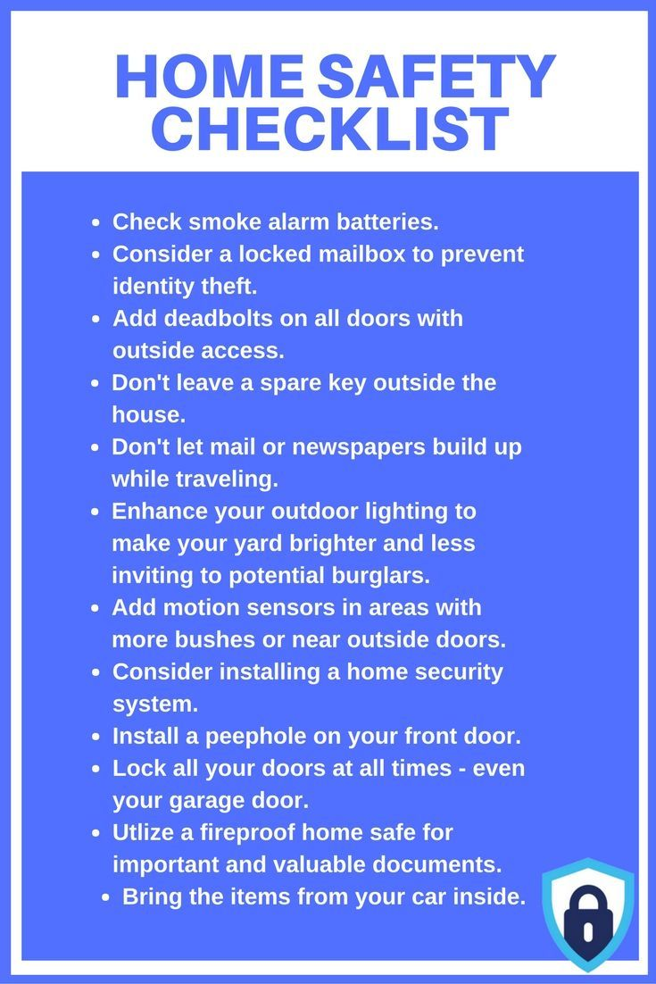Our Home Safety Checklist will assist you in prepping your home to keep you and your loved ones safe. Learn more ways to keep your home secure on ASecureLife.com. #homesecurityideas