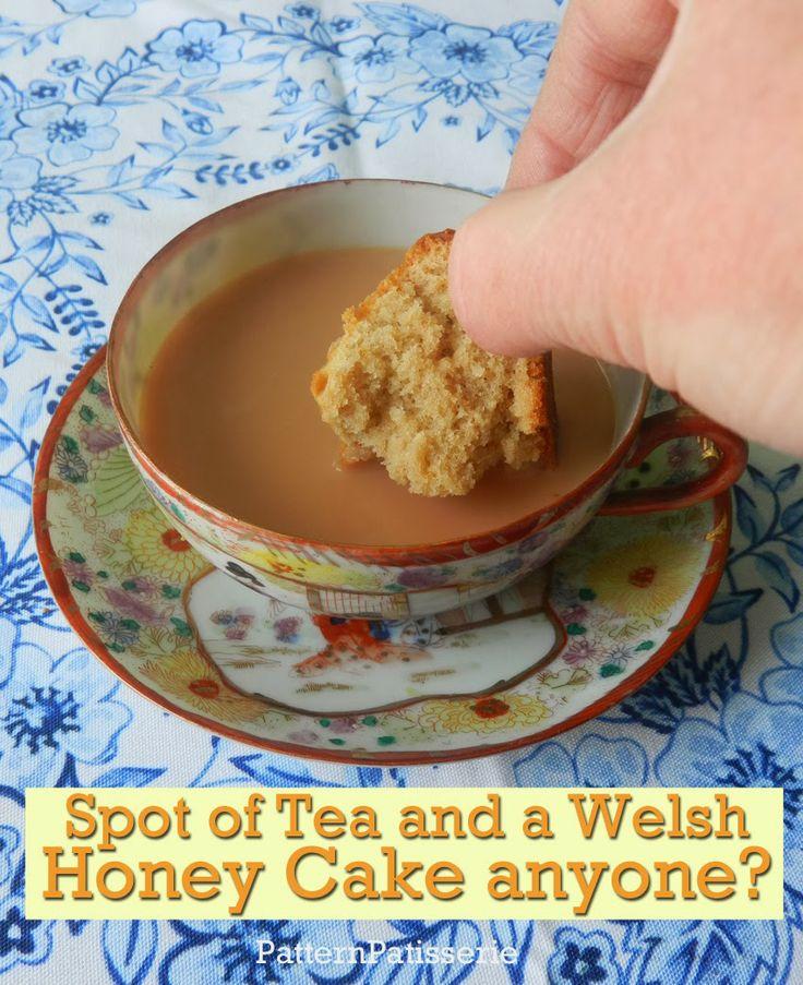 #patternpatisserie: Welsh Honey Cakes, Tiessennau Mel, for St. David's Day March 1st