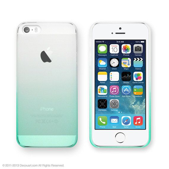 Gradation matt iPhone 5 case iPhone 5s gradation by Decouartshop, $16.99. Ombré mint green!!!!!!!