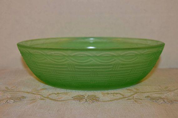 Fenton Green Glass Nest Vintage Hen on Nest Bottom Only Green
