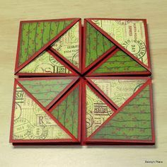 Beccy's Place: Tutorial: Serviette / Napkin Fold Cards