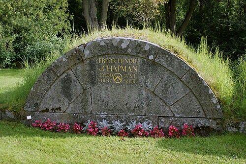 af Chapmans grav på Augerums kyrkogård